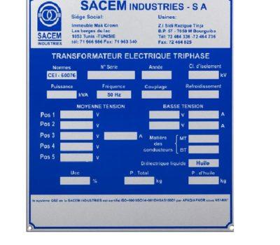 Plaque Signalétique Standard En ALU