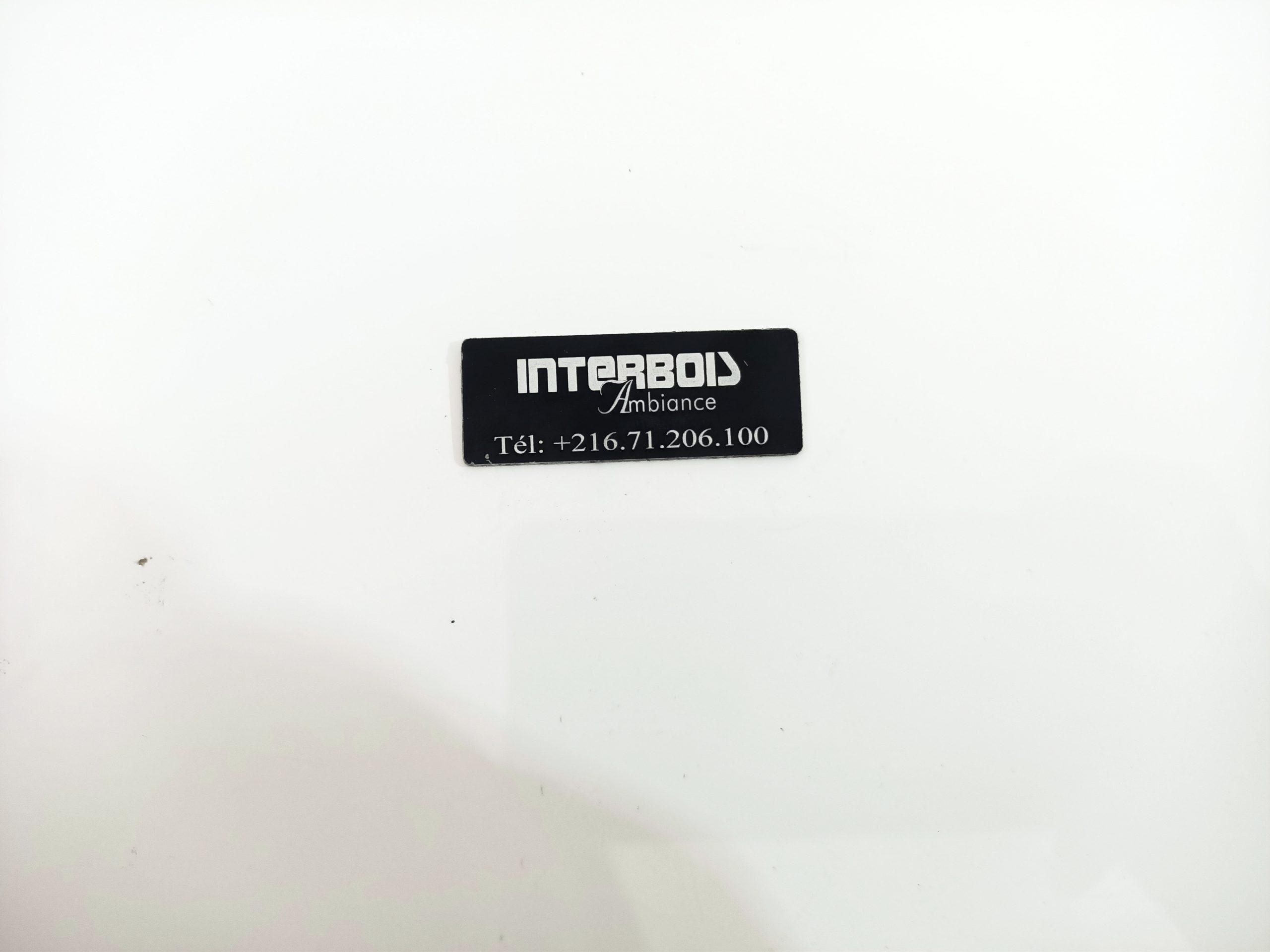 Plaque de logo en aluminium anodisé noir