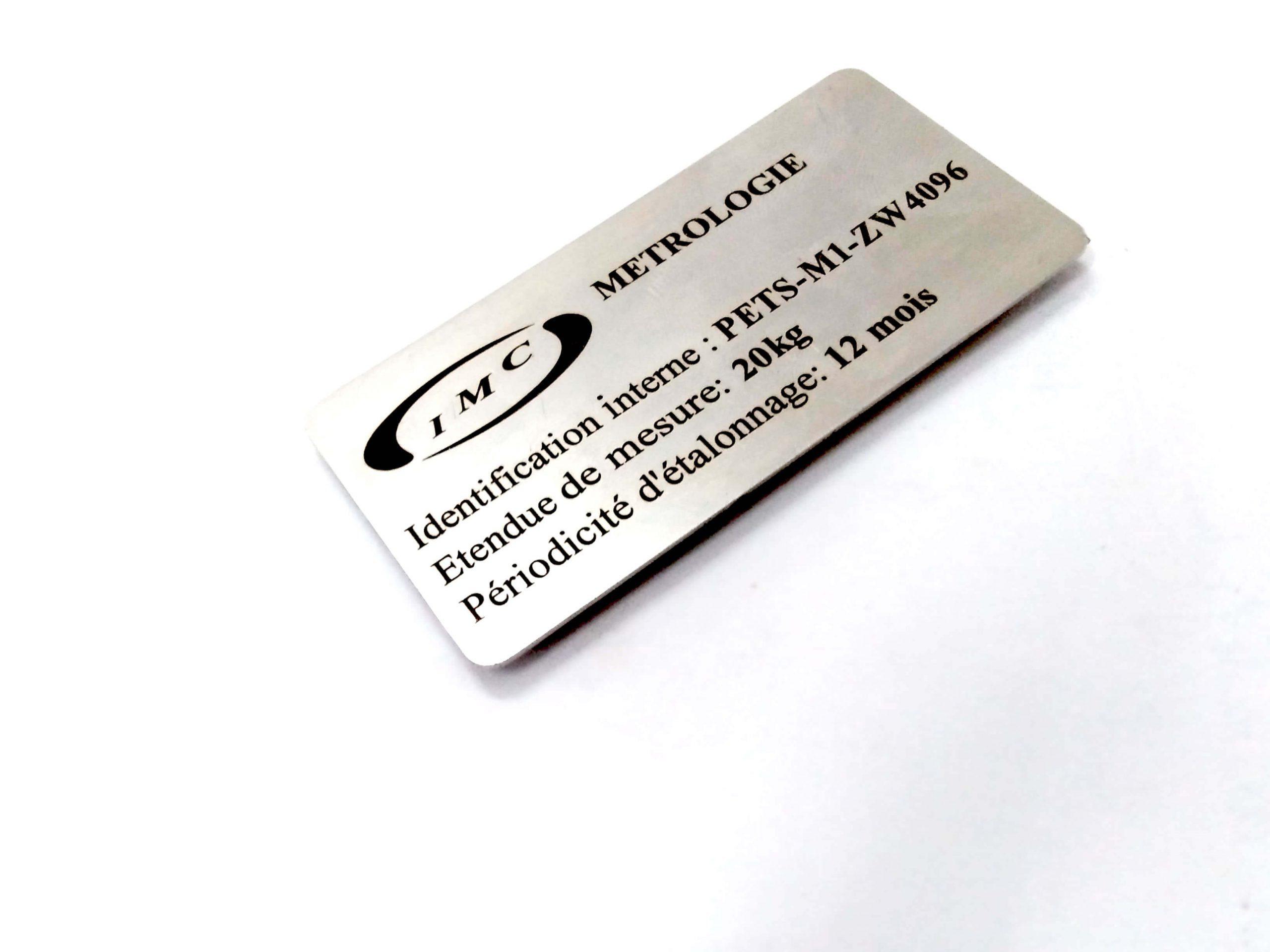 plaque en inox marquage laser